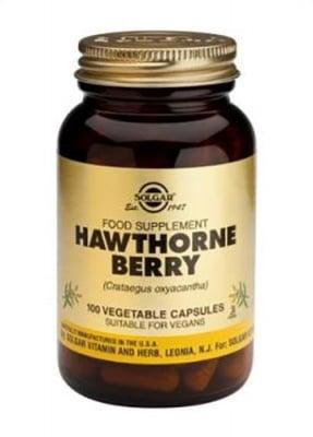 Hawthorne berry 100 capsules Solgar / Глог плод 100 капсули Солгар