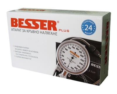 Mechanical device for measuring blood pressure Besser Plus / Механичен апарат за кръвно налягане Besser Plus