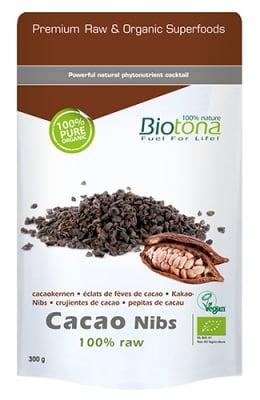 Biotona bio cacao nibs 300 g / Биотона БИО Какаови зърна 300 гр.