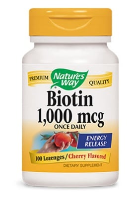Biotin 1000 mcg 100 tablets Nature's Way / Биотин 1000 мкг. 100 таблетки Nature's Way