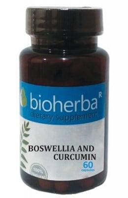 Bioherba boswellia and curcumin 60 capsules / Биохерба Босвелия и Куркумин 60 капсули
