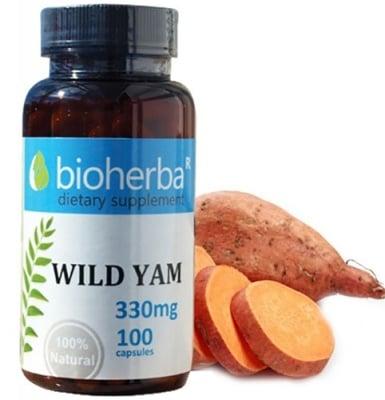 Bioherba wild yam 330 mg 100 capsules / Биохерба див ям 330 мг 100 капсули