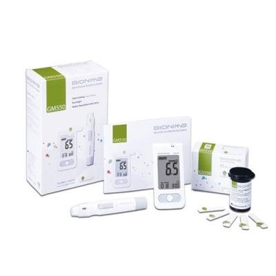 Blood glucose apparatus Bionime Rightest GM550 + 50 pcs. test strips / Апарат за измерване на кръвна захар Бионейм GM550 + 50 броя тест ленти