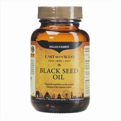 Blackseed oil 60 capsules Holland & Barrett / Масло от семена на черен кимион 60 капсули Holland & Barrett