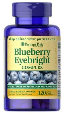 Puritan's Pride Blueberry eyebright complex 120 caplets / Пуританс Прайд Бяла боровинка комплекс 120 каплети