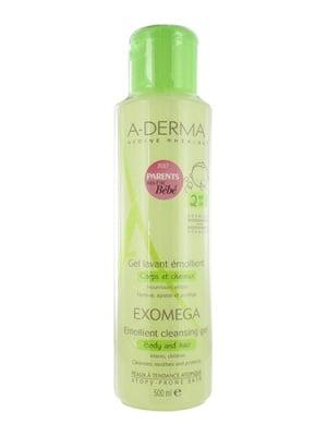 A-Derma Exomega control emollient cleansing gel 500 ml. / А-Дерма Екзомега контрол емолиентен почистващ гел 2 в 1 500 мл.
