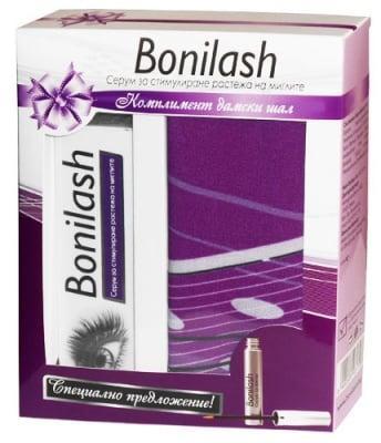 Bonilash Serum for eyelash growth 3 ml. + box with scarf / Бонилаш Серум за растеж на мигли 3 мл. + кутия с шал