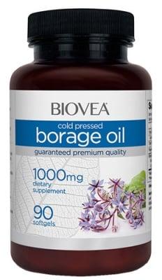 Biovea Borage oil 1000 mg 90 capsules / Биовеа Масло от пореч 1000 мг. 90 капсули