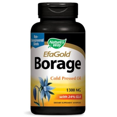 Borage Cold Pressed Oil 1300 mg. 60 capsules Nature's Way / Пореч масло студено пресовано 1300 мг. 60 капсули Nature's Way
