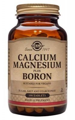 Calcium, magnesium plus boron 100 tablets Solgar / Калций, магнезий и бор 100 таблетки Солгар
