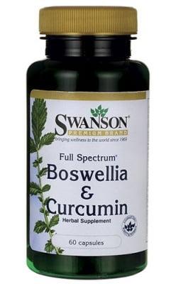 Swanson Boswellia and curcumin full spectrum 60 capsules / Суонсън Босвелия и куркумин пълен спектрум 60 капсули