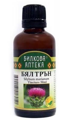 Tincture Silybum marianum 50 ml. / Тинктура Бял трън 50 мл. Билкова Аптека
