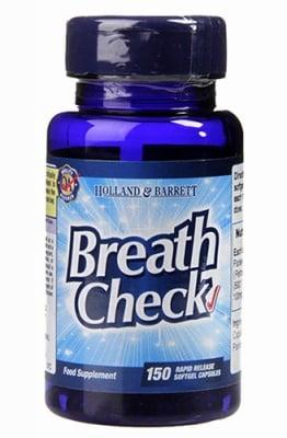 Breath check 150 capsules Holland & Barrett / Свеж дъх масло от семена на магданоз 150 капсули Holland & Barrett