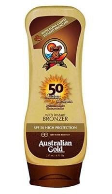 Australian gold lotion with instant bronzer SPF 50 237 ml. / Аустралиан голд лосион с бронзант SPF 50 237 мл.