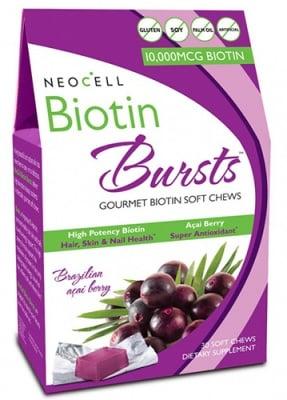 Biotin bursts gourmet 30 soft chews NEOCELL USA / Биотин Акай бери 30 дъвчащи бонбони NEOCELL USA