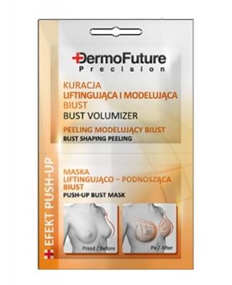 Dermofuture push-up bust mask 2 pcs. 12 ml / Дермофючър Маска за оформяне и повдигане на бюста 2 броя 12 мл