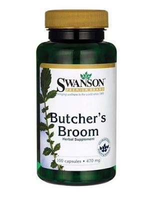 Swanson butcher`s broom 470 mg 100 capsules / Суонсън самодивски чемшир 470 мг 100 капсули