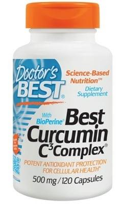 Doctor's Best Curcumin C3 complex 500 mg 120 capsules / Доктор'с Бест Куркумин С3 комплекс с биоперин 500 мг. 120 капсули