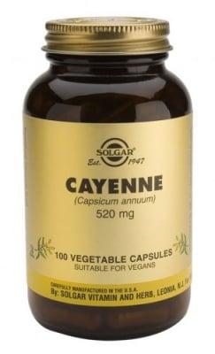 Cayenne 520 mg 100 capsules Solgar / Лют червен пипер 520 мг. 100 капсули Солгар