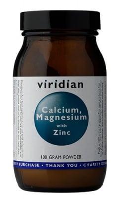 Calcium, Magnesium with Zinc powder 100 gr Viridian / Калций, Магнезий и Цинк прах 100 гр Виридиан