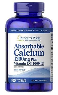 Puritan's Pride Calcium plus vitamin D3 100 capsules / Пуританс Прайд Калций и Витамин Д3 100 капсули