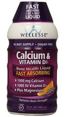 Calcium and Vitamin D3 solution 480 ml WELLESSE / Течен калций + Витамин Д3 разтвор цитрус 480 мл. WELLESSE