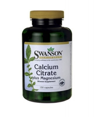 Swanson calcium citrate plus magnesium 150 capsules / Суонсън калциев цитрат плюс магнезий 150 капсули