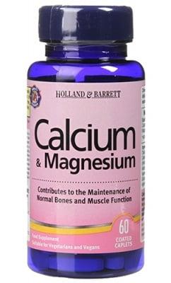 Calcium & magnesium 100 caplets Holland Barrett / Калций + Магнезий 100 каплети Holland Barrett