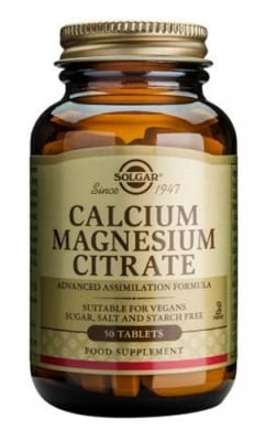 Calcium Magnesium Citrate 50 tablets Solgar / Калций Магнезий Цитрат 50 таблетки Солгар