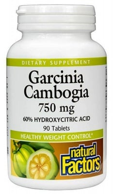 Garcinia Cambogia 90 tablets Natural Factors / Гарциния Камбоджа 90 таблетки Натурал Факторс