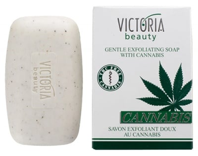 Victoria Beauty cannabis gentle exfoliating soap 75 g / Виктория Бюти Канабис ексфолиращ сапун 75 гр.