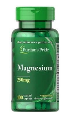 Puritan`s pride Magnesium 250 mg 100 caplets / Пуританс Прайд Магнезий 250 мг. 100 каплети