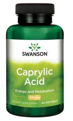 Swanson Caprylic acid 600 mg 60 capsules / Суонсън Каприлова киселина 600 мг. 60 капсули