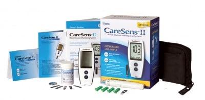 Blood Glucose Monitoring System Caresens II / Апарат За Кръвна Захар Кеърсенс II + 10 броя Тест Ленти