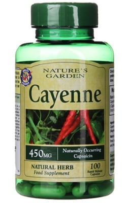 Cayenne 450 mg 100 capsules Nature's Garden / Лют пипер 450 мг. 100 капсули Nature's Garden