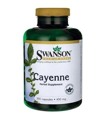 Swanson Cayenne 450 mg 300 capsules / Суонсън Лют червен пипер 450 мг. 300 капсули