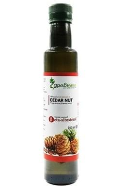 Cedar nut 250 ml Zdravnitza / Масло от сибирски кедър 250 мл. Здравница