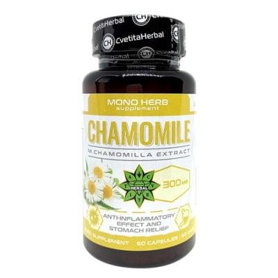 Chamomilе Extract 300 mg 60 capsules Cvetita Herbal / Лайка 300 мг. 60 капсули Цветита Хербал