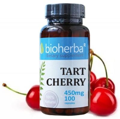 Bioherba Tart cherry 450 mg 100 capsules / Биохерба Вишна 450 мг. 100 капсули