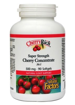 Cherry concentrate 500 mg 90 capsules Natural Factors / Череша концентрат 500 мг. 90 капсули Натурал Факторс