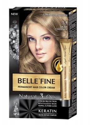 Belle'fine hair color cream 5.4 light chestnut / Бел Файн боя за коса 5.4 светъл кестен