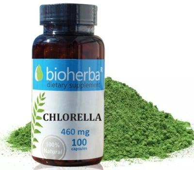 Bioherba Chlorella 460 mg 100 capsules / Биохерба Хлорела 460 мг. 100 капсули