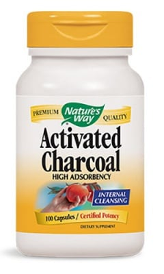 Activated charcoal 280 mg 100 capsules Nature's Way / Активен въглен 280 мг. 100 капсули Nature's Way