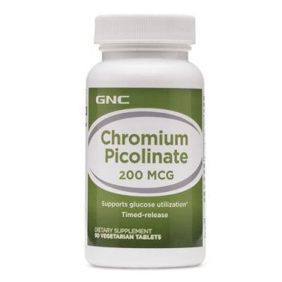 Chromium Picolinate 200 mcg 90 tablets GNC / Хром пиколинат 200 мкг. 90 таблетки GNC