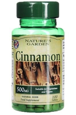 Cinnamon 500 mg 100 tablets Nature's Garden / Канела 500 мг. 100 таблетки Nature's Garden