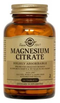 Magnesium citrate 60 tablets Solgar / Магнезий цитрат 60 таблетки Солгар