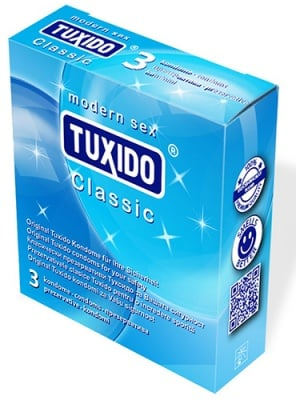 Tuxido Classic condoms of natural latex 3 / Презервативи Туксидо Класик от естествен латекс 3 броя.
