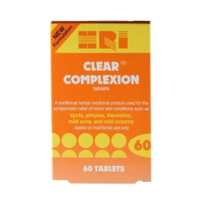 Clear complexion 60 tablets Holland & Barrett / Клиър комплекшън за здрава и чиста кожа с равен тен 60 таблетки Holland & Barrett