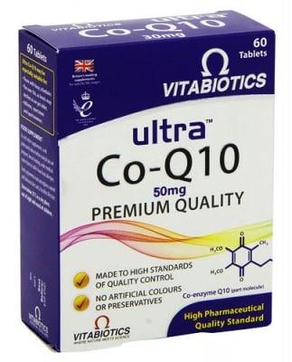 Ultra Co Q10 60 tablets Vitabiotics / Ултра Коензим Q10 60 таблетки Витабиотикс