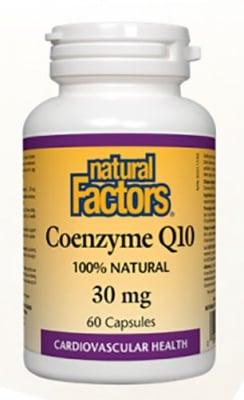 Coenzyme Q10 30 mg 60 capsules Natural Factors / Коензим Q10 30 мг. 60 капсули Натурал Факторс